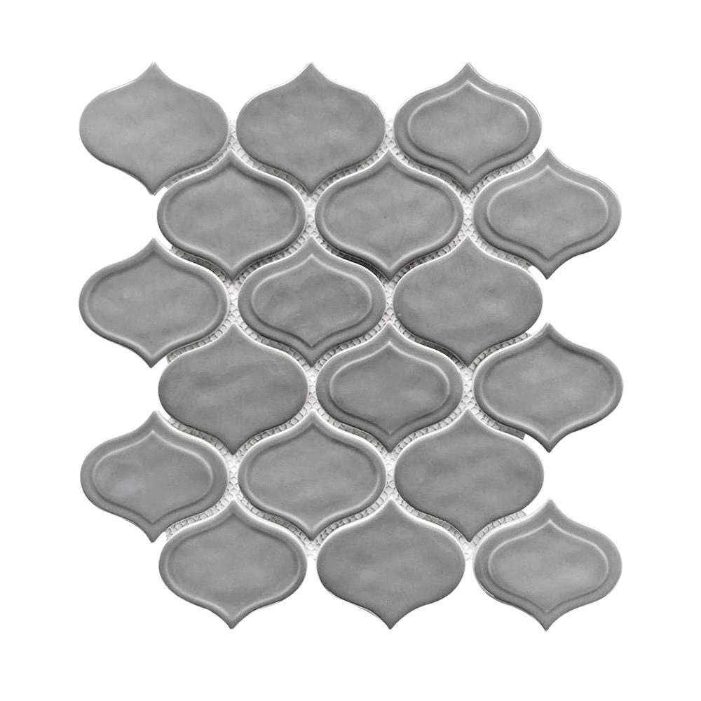 Cool Grey Teardrop Glass Mosaic