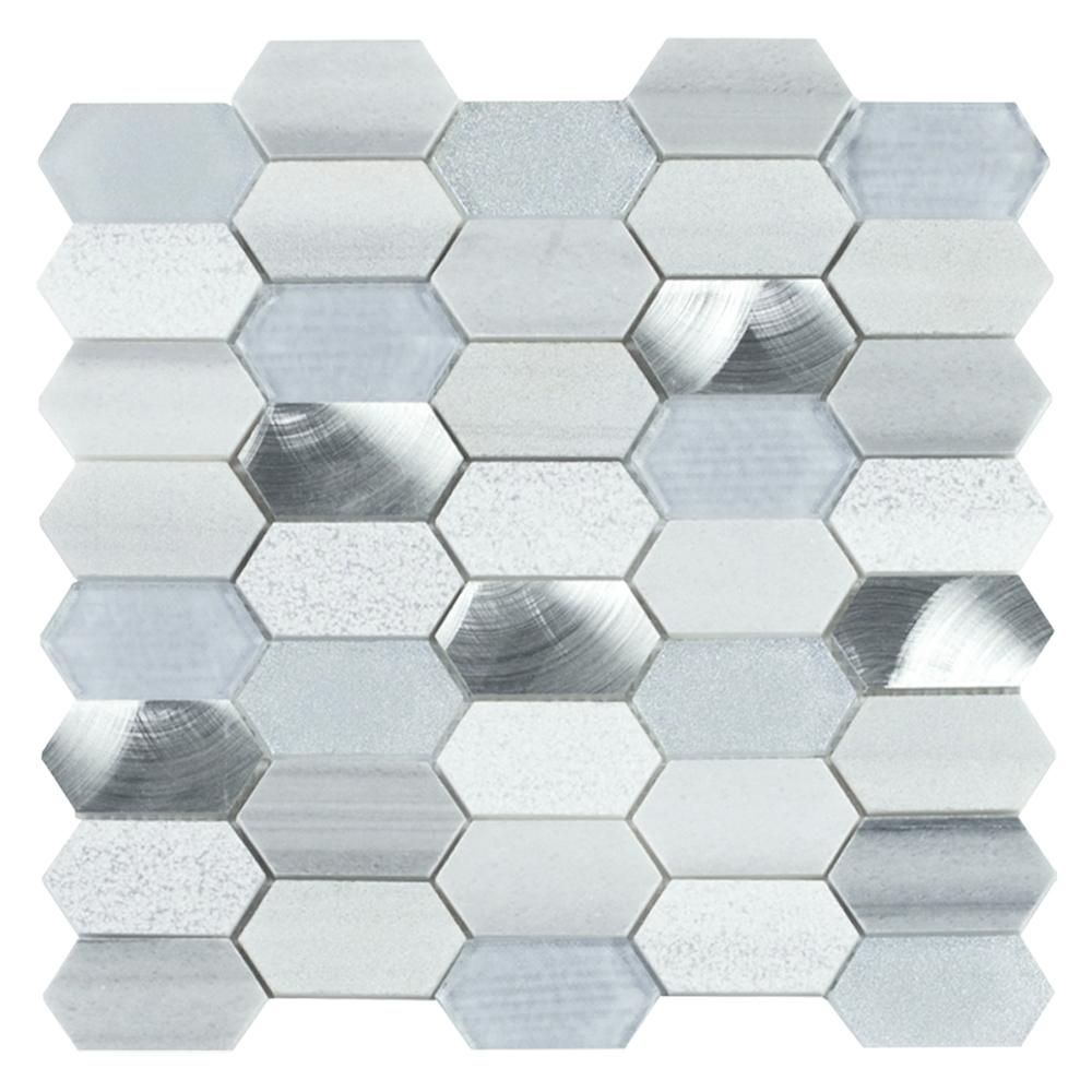 MSI Harlow Picket Mixed Glass Mosaic