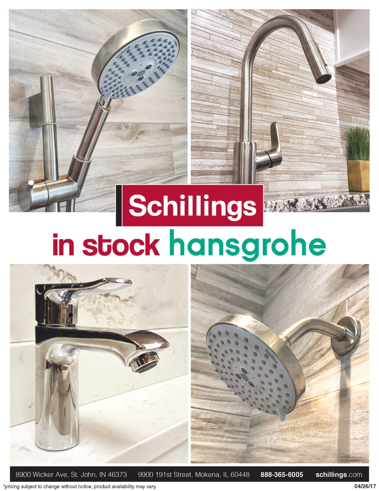 in stock hansgrohe