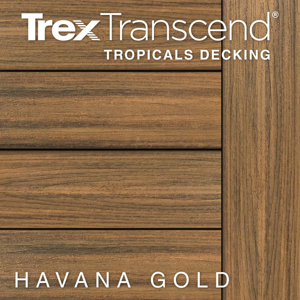 Color Selector Trex Transcend Tropicals Havana Gold Decking