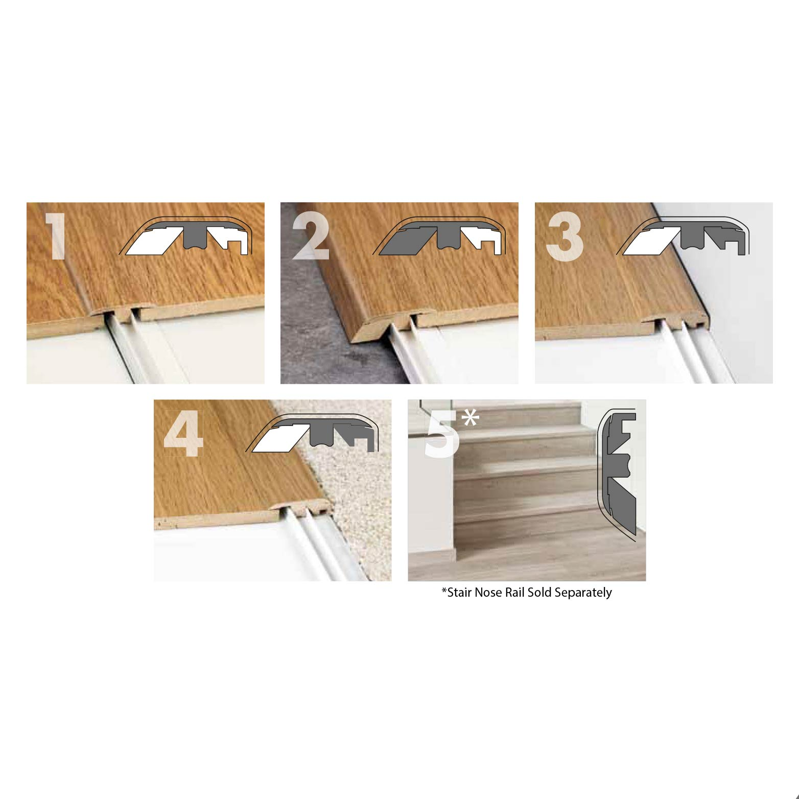 Mohawk Laminate 5 In 1 Molding Piece, Mohawk Laminate Flooring Transitions
