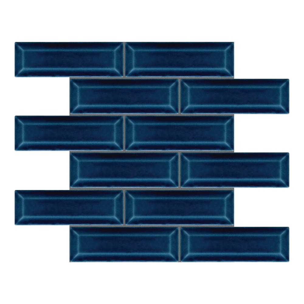 Kinetic Blue Gloss Bevel Mosaic