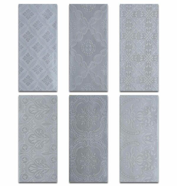 Roca Maiolica Deco Gray Ceramic Tile 4 Quot X 10 Quot Schillings