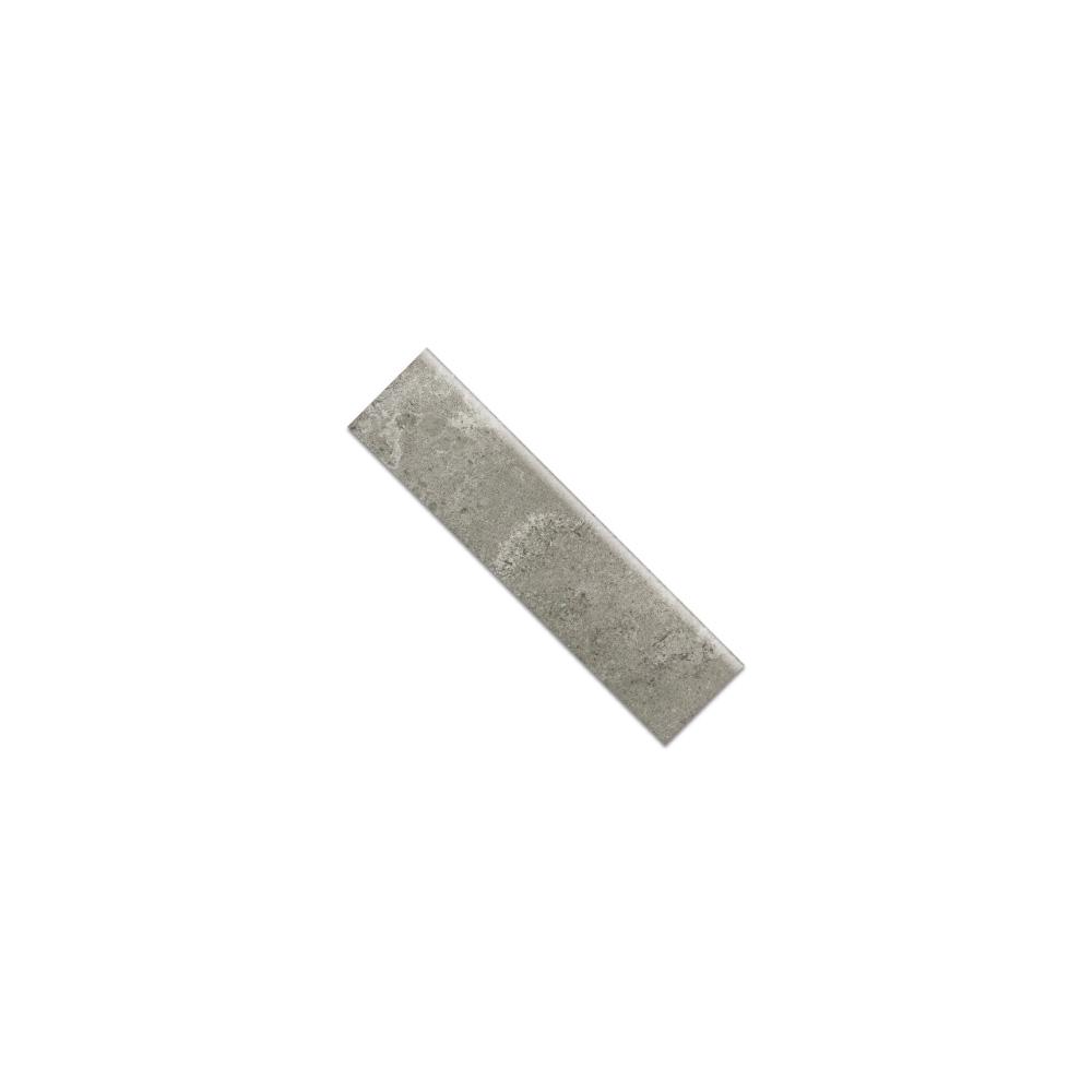 Virginia Tile Metric Light Gray Bullnose Tile