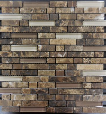 MS315 Mosaic backsplash by glass tile and stone.