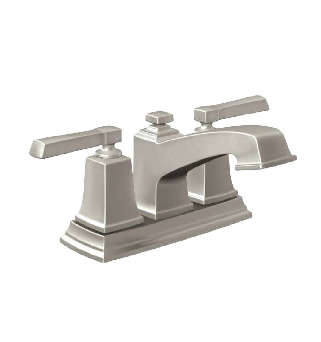 7 Faucet Finishes For Fabulous Bathrooms: Moen 84800SRN Boardwalk Two-Handle Centerset Bathroom