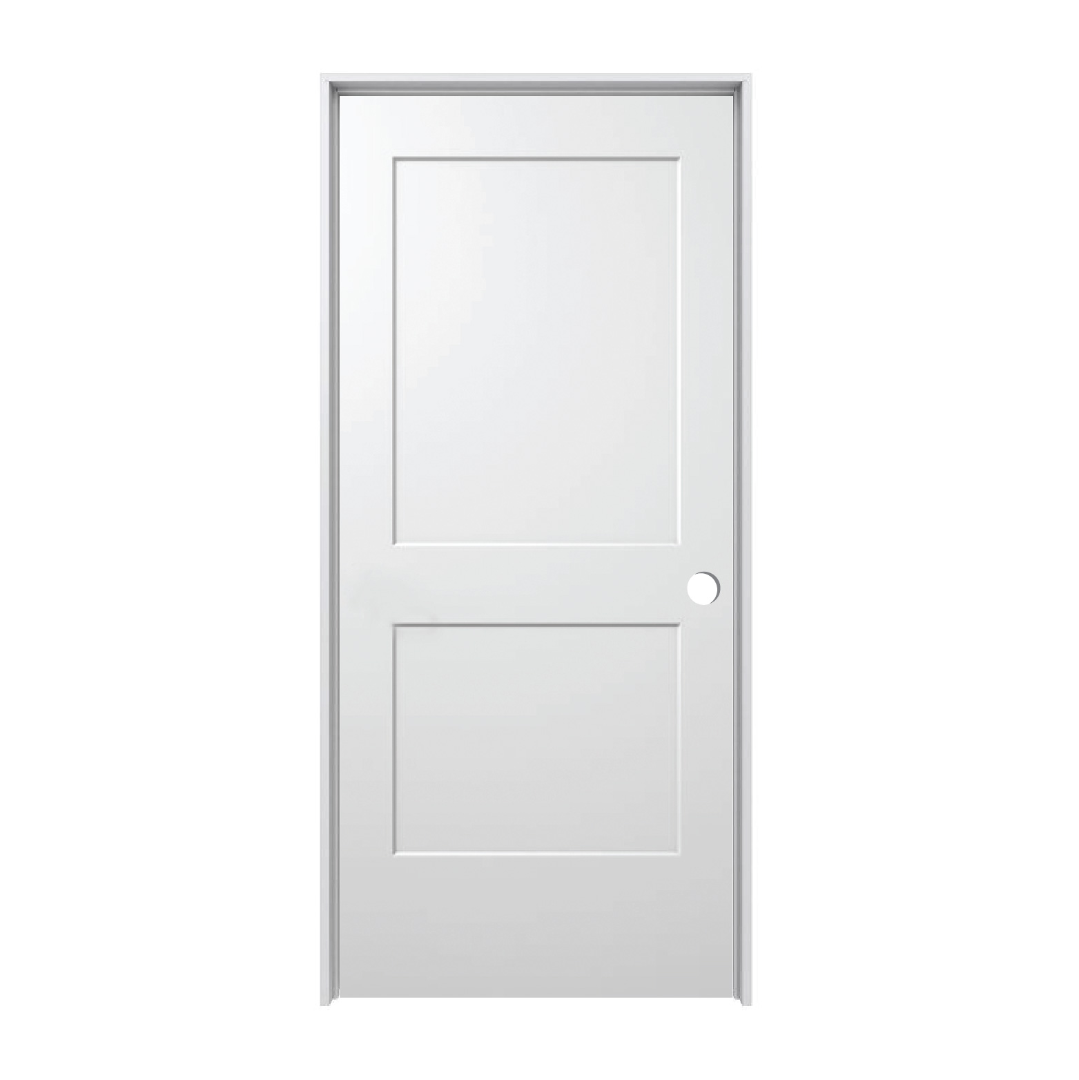 Merveilleux Hollow Core Monroe 2 Panel Prehung Door (LH) 18u2033 X 80u2033