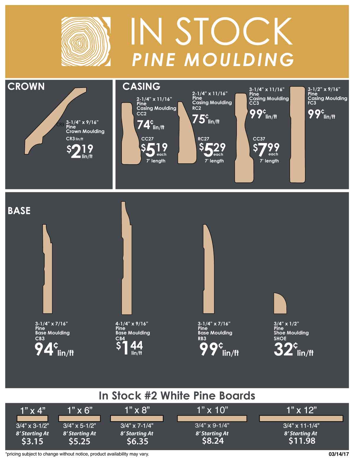 in stock pine moulding page 3