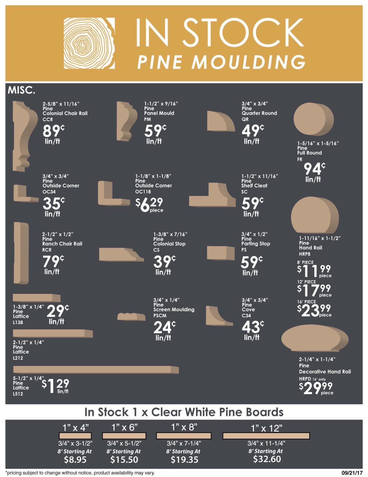 Mouldings Pine