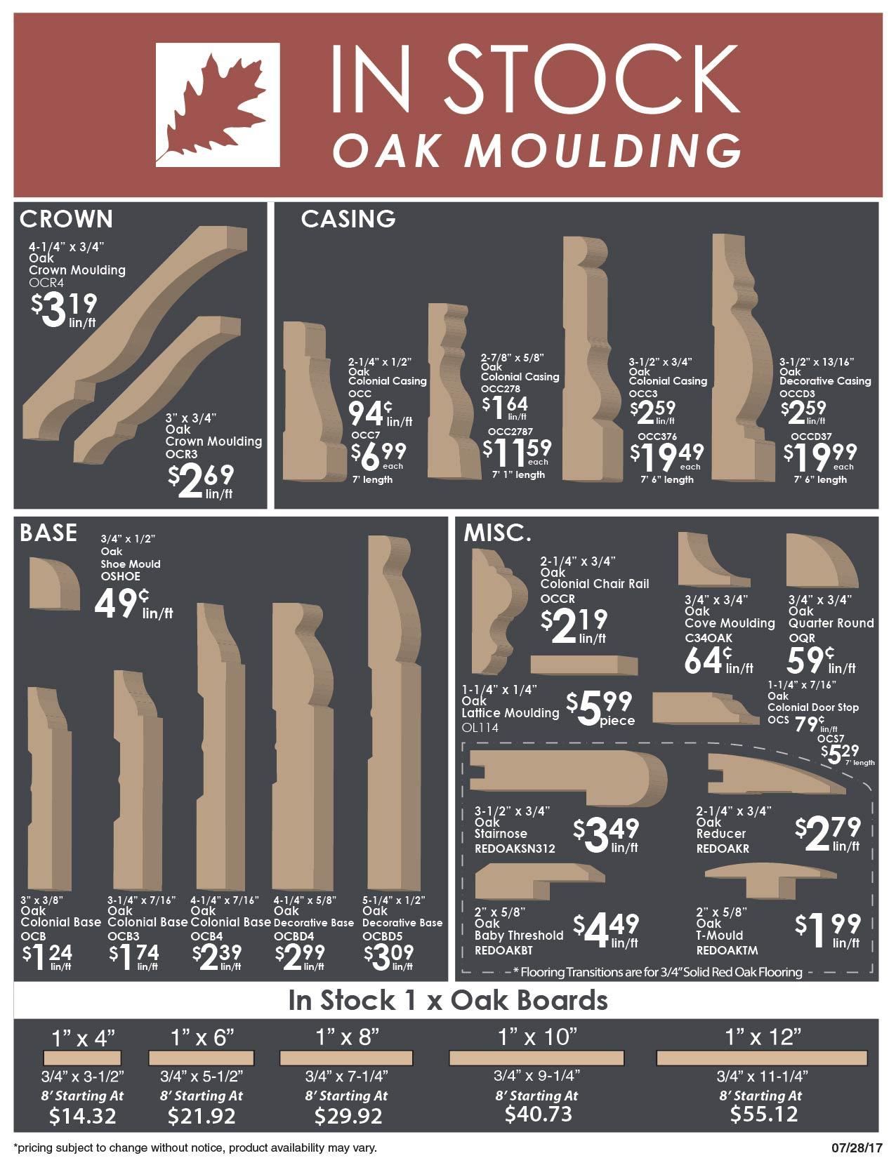 Oak Mouldings