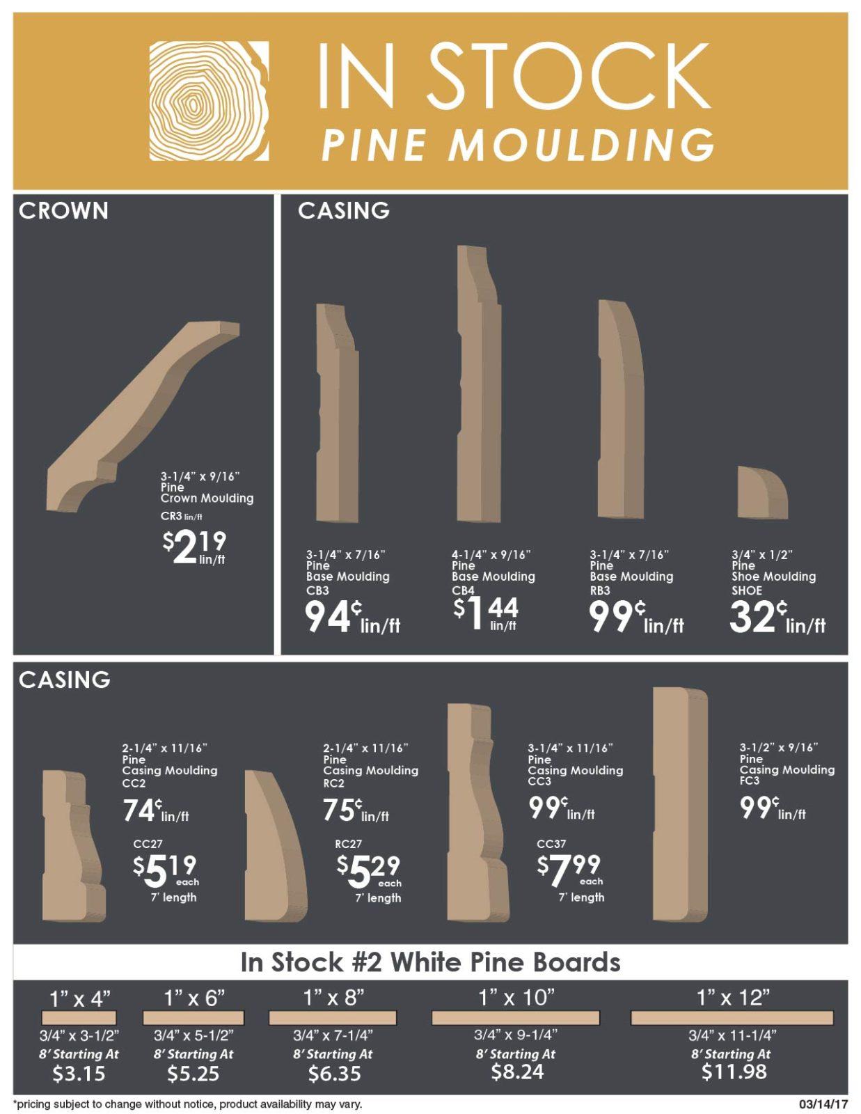 Pine Mouldings