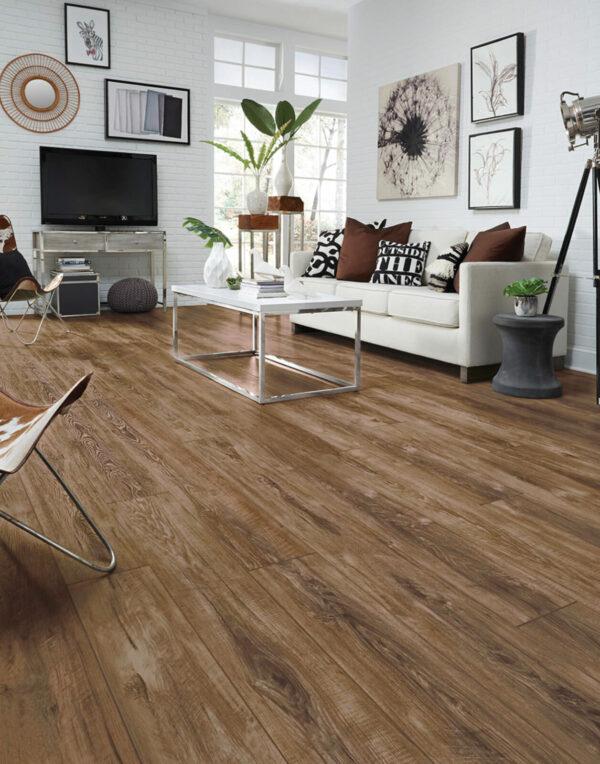 Modernized Living Space with Adura Napa Barrel Vinyl Flooring