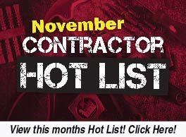 November Contractor Hot List