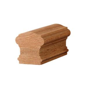 non-plowed oak handrail