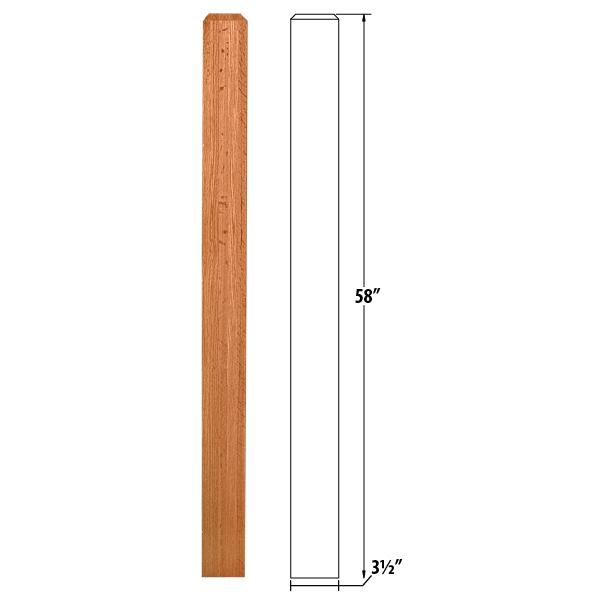 Oak Craftsman Newel