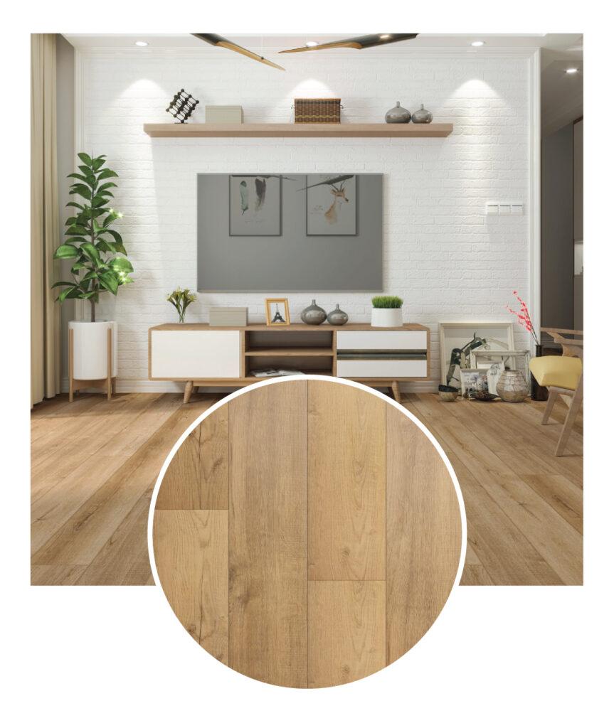 Paramount Cornerstone Ridgeline Vinyl Flooring Sample Room