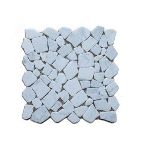 pebble carrara stone mosaic