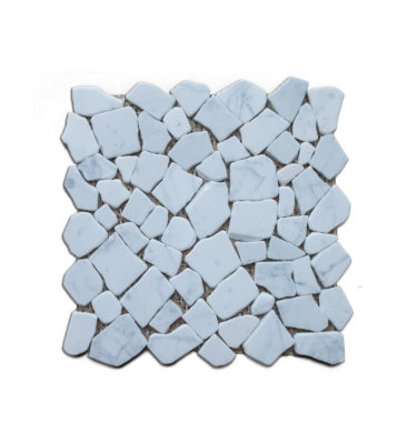 pebble carrara stone mosaic