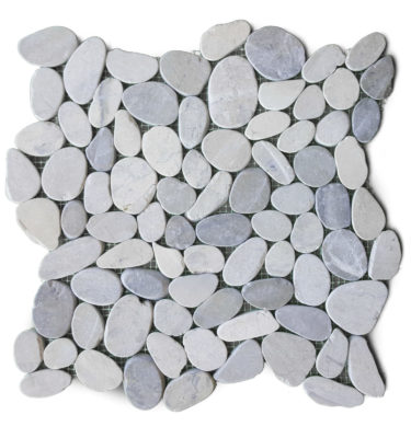 pebble silver natural stone mosaic