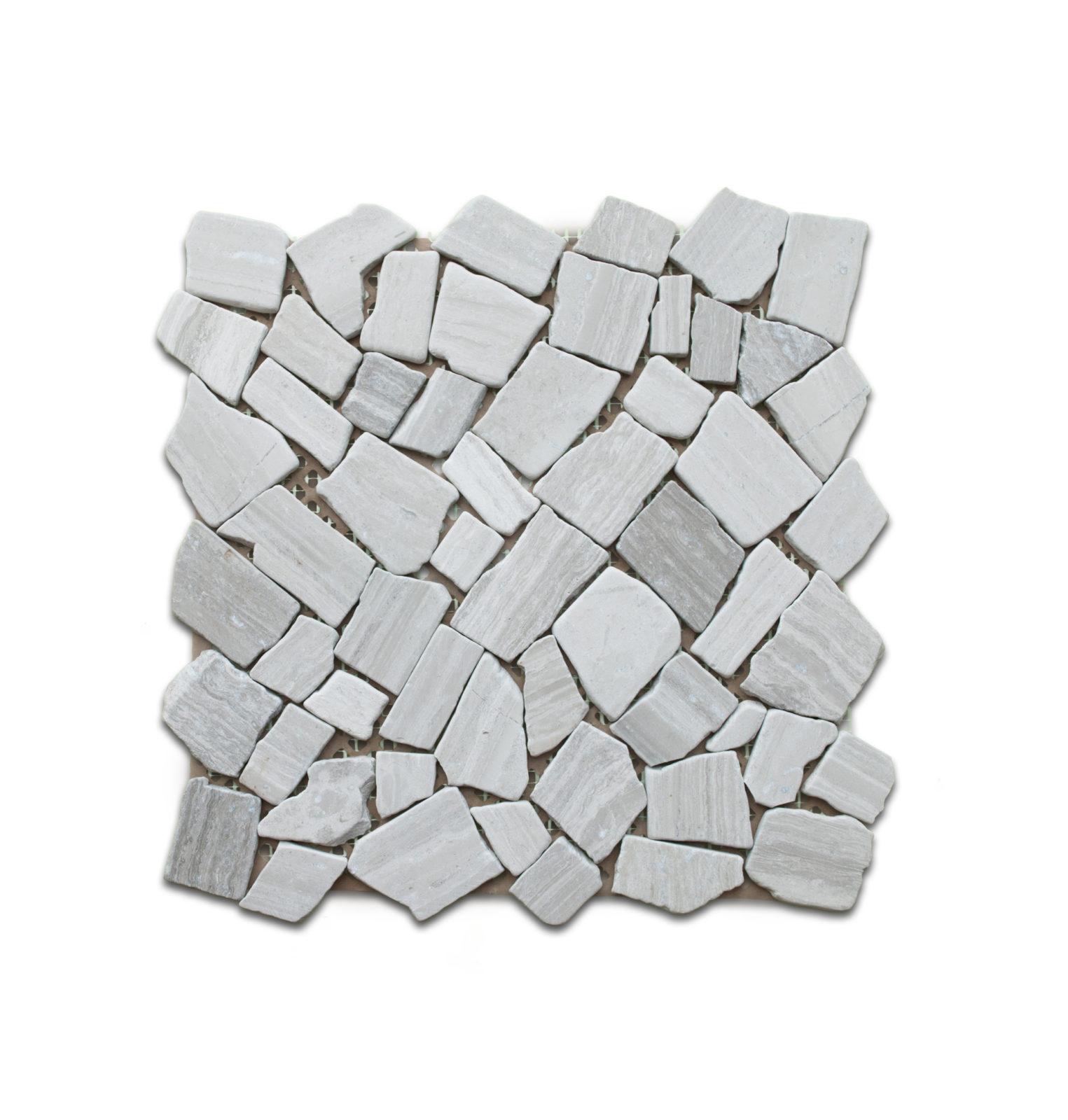 Flat wood gray pebble stone