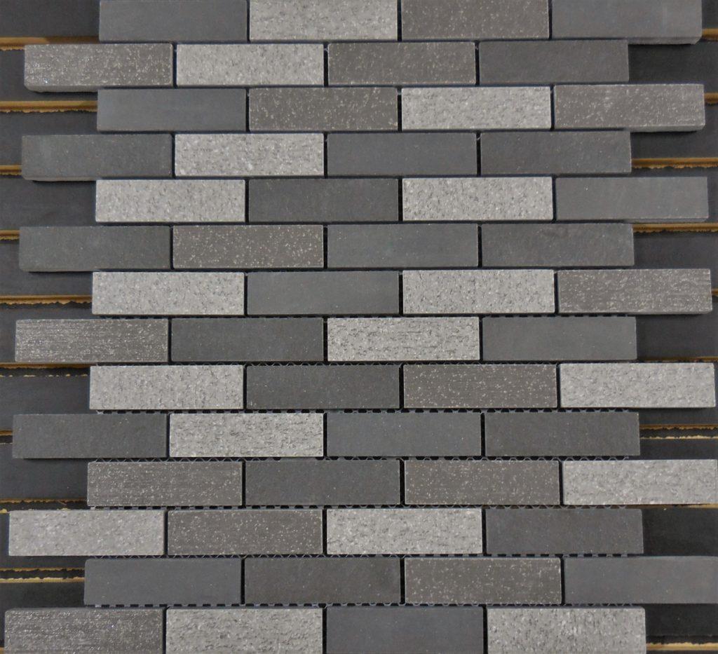 Ptb2022 Porcelain Grey Mosaic Brick 1 X 3 Schillings