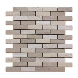 PTB3023 Porcelain Sand Mosaic Brick 1″ x 3″