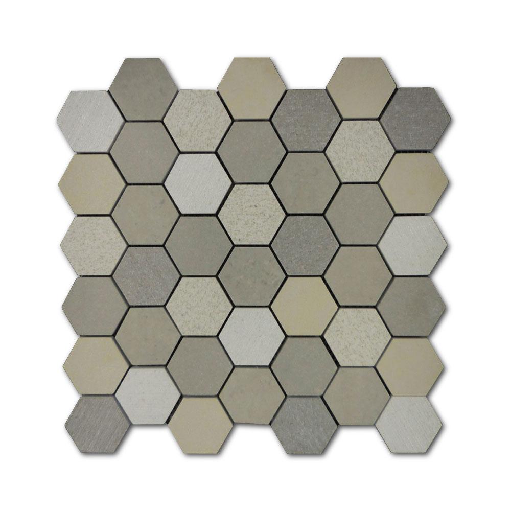 PTH3013-Porcelain-Sand-Mosaic-2in-Hexagon
