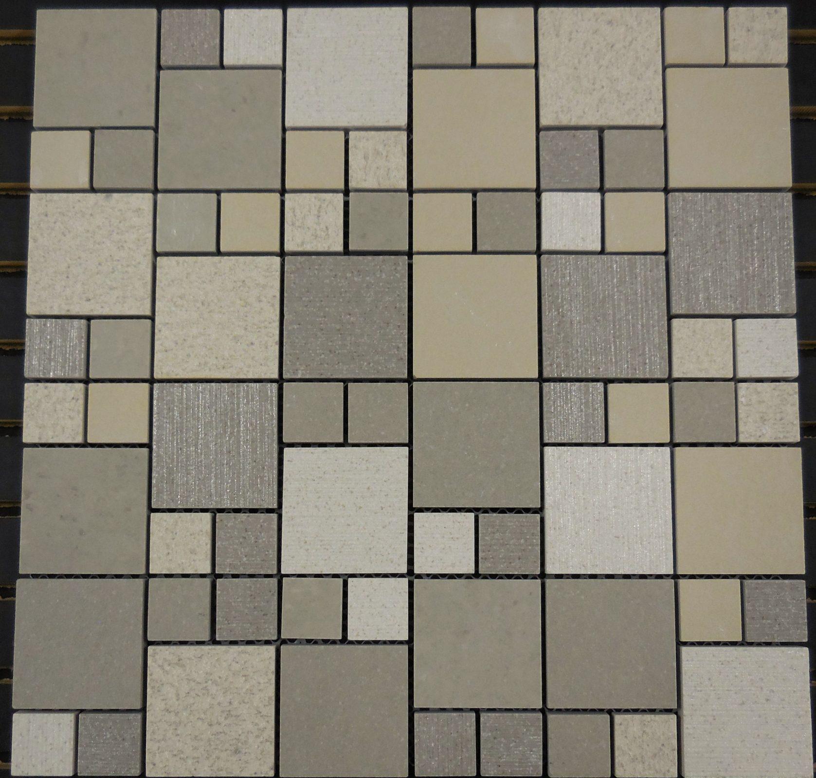 Ptm3033 Porcelain Mosaic Sand Versailles 1 Amp 2 Block