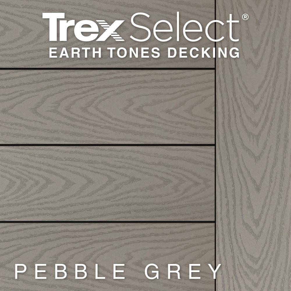 Color Selector Trex Select Earth Tones Pebble Grey Decking