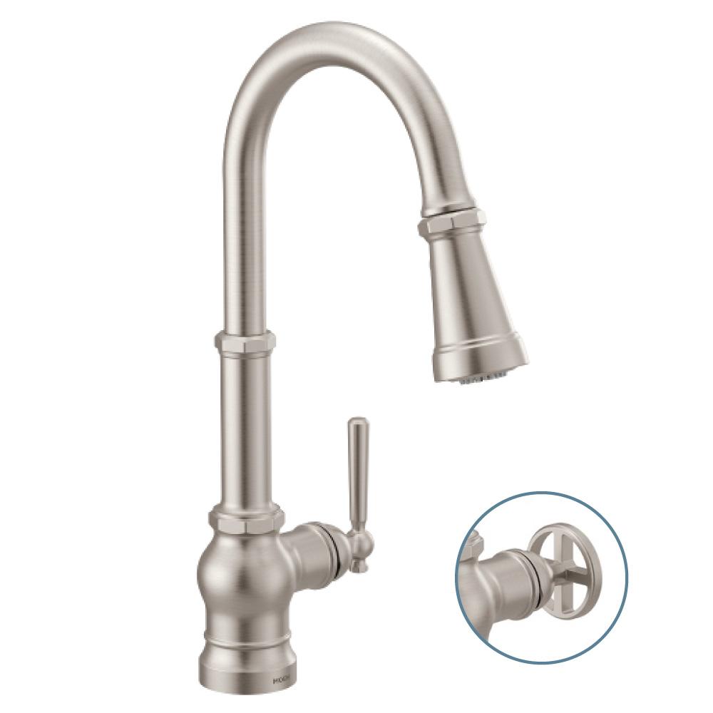 Moen Paterson Kitchen Faucet Spot Resist Stainless S72003srs Schillings