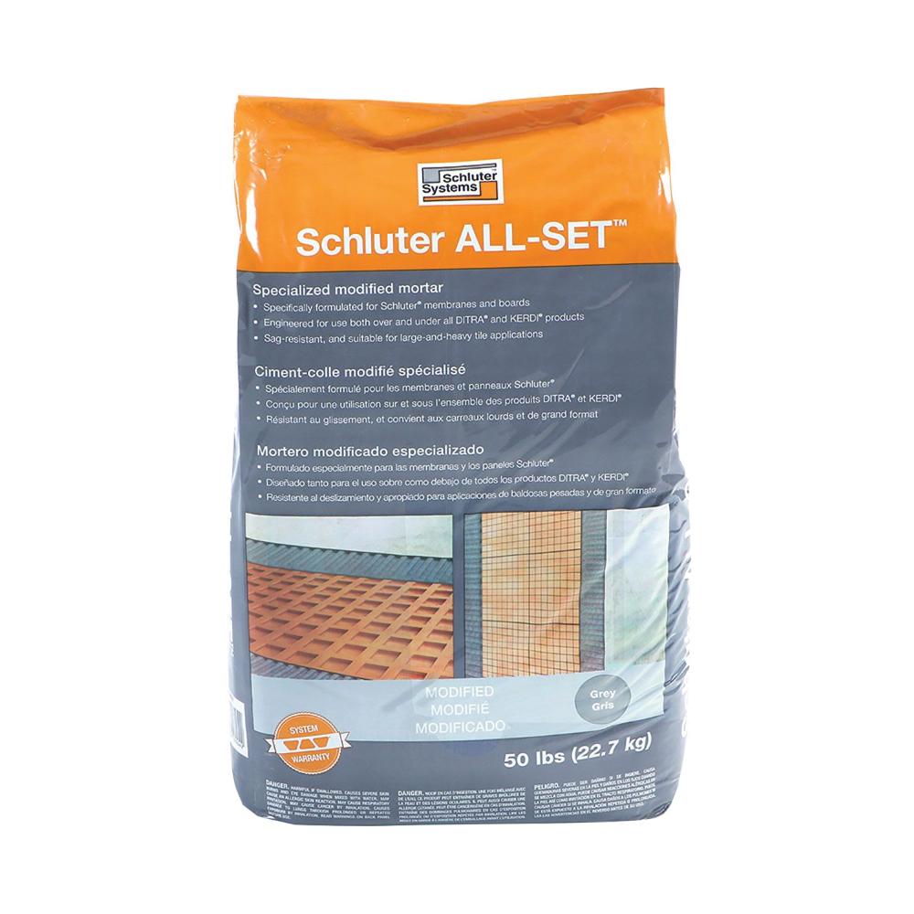 Schluter All-Set Grey Morter - 50lbs