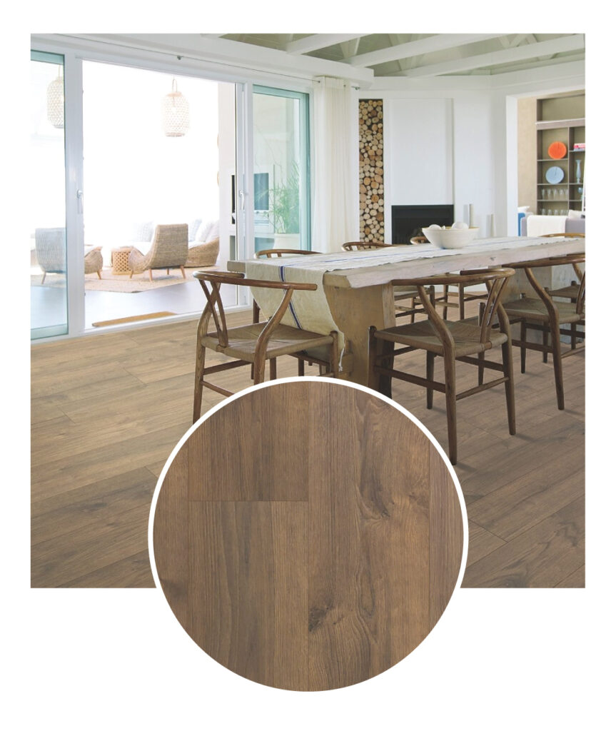 Mohawk Briarfield Scorched Oak Laminate Flooring Sample Room