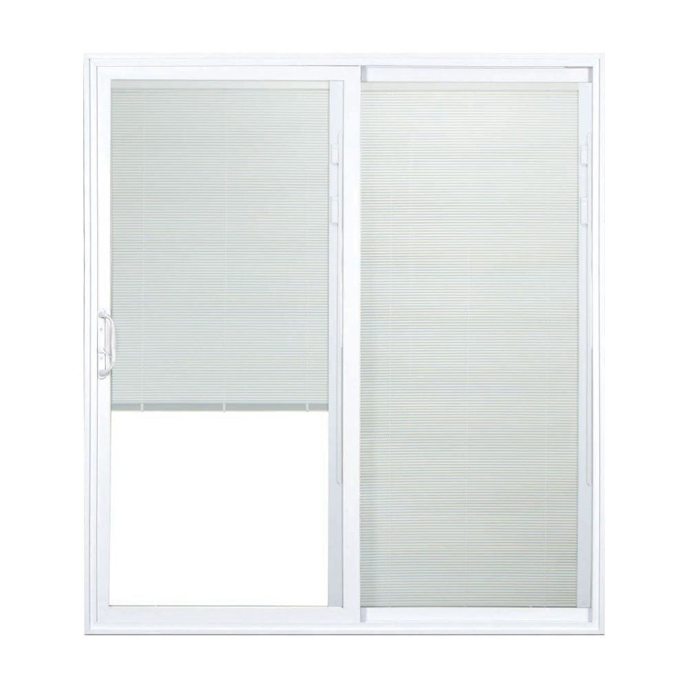Silver Line 6 0 X 6 8 Right Hand Gliding Patio Door With Blinds Schillings