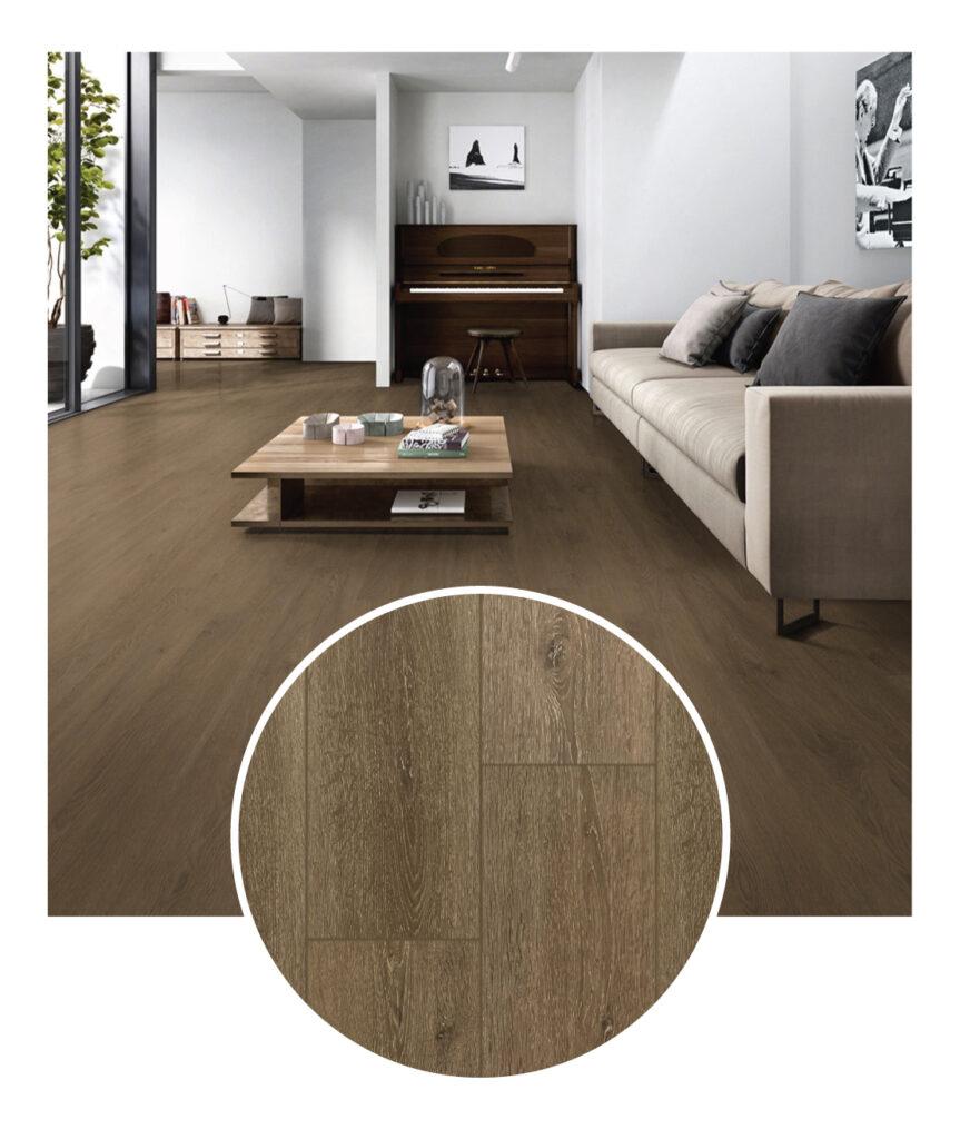 MSI Everlife Fawn Laminate Flooring Sample Room