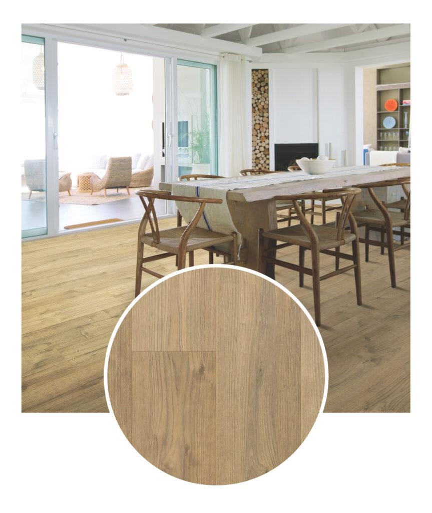 Mohawk Briarfield Sun Bleached Oak Laminate Flooring Sample Room