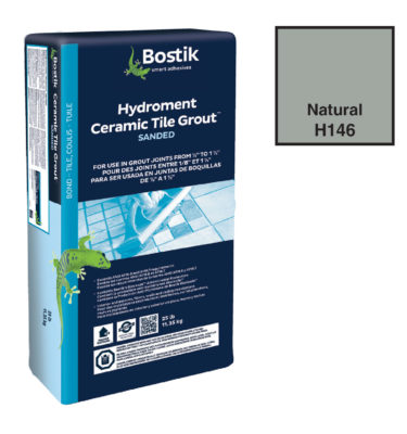 Natural sanded grout by bostik