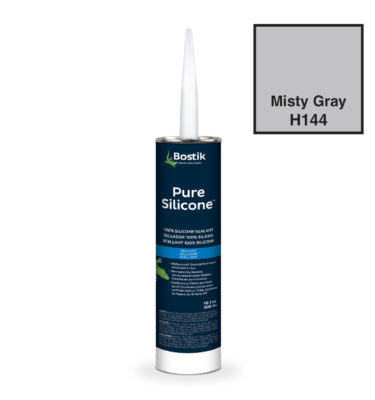 Misty Gray silicone caulk by bostik H144