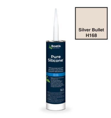 Silver Bullet silicone caulk by bostik