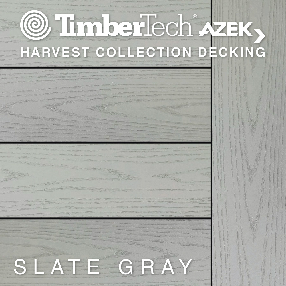 Color Selector TimberTech Harvest Collection Slate Gray Decking
