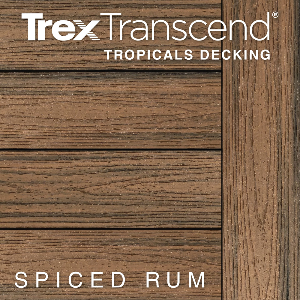 Color Selector Trex Transcend Tropicals Spiced Rum Decking