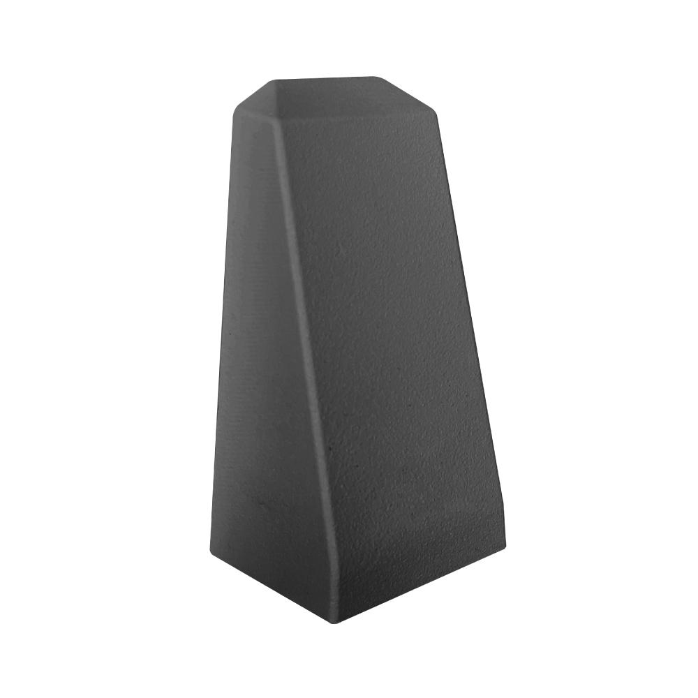 Top View of Trex Aluminum Wedge Post Light - Black