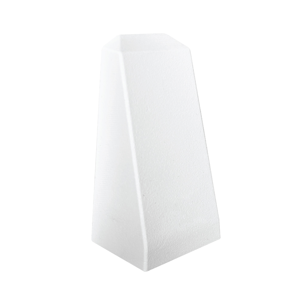 Top View of Trex Aluminum Wedge Post Light - White