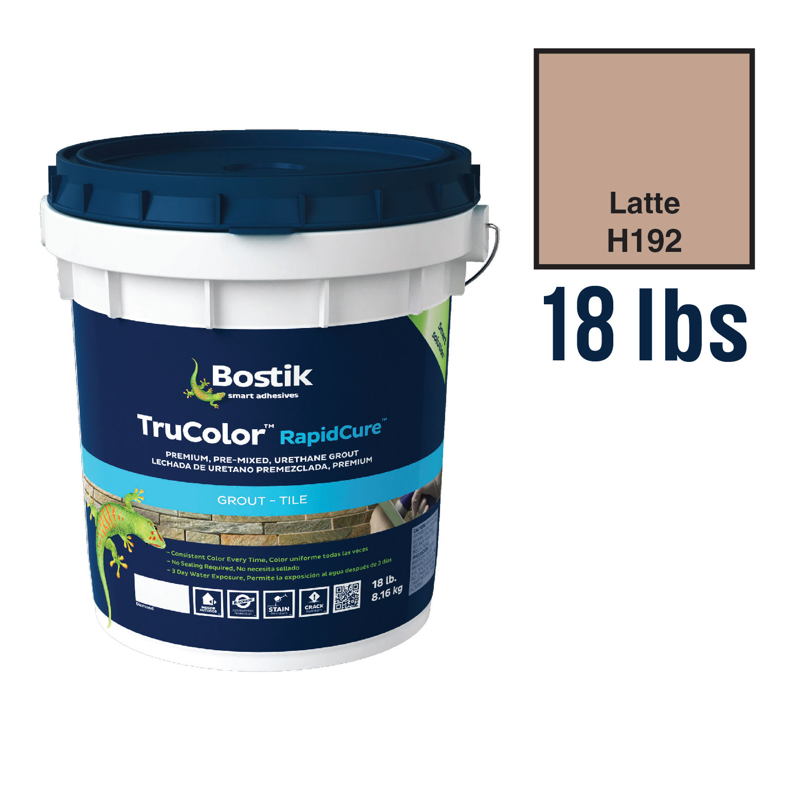 Bostik Trucolor Latte Premixed Grout 18lb Bucket Schillings