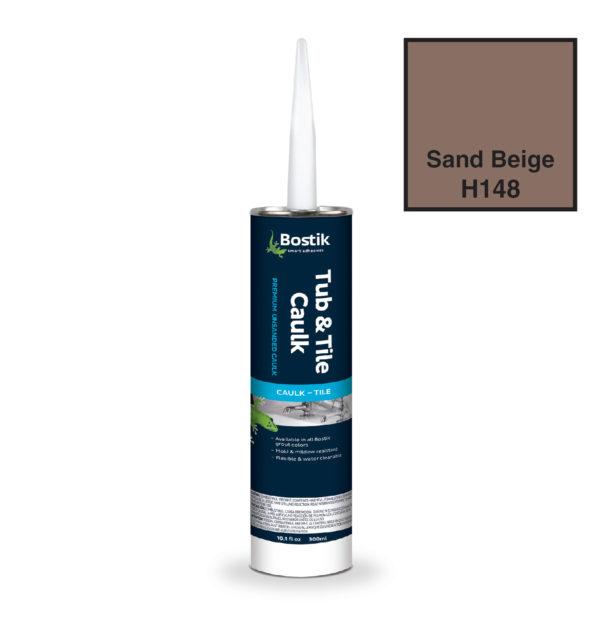 Sand Beige unsanded caulk by bostik