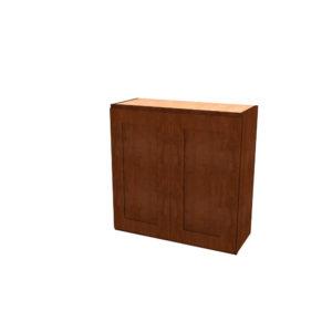 """Jamestown Cherry Lava 2-Door Wall Cabinet - 30"""""""