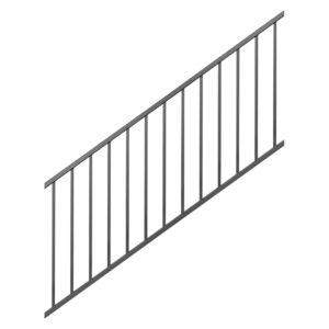 Westbury Tuscany 6' Aluminum Stair Rail - Black