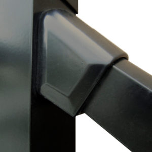 black aluminum stair bracket