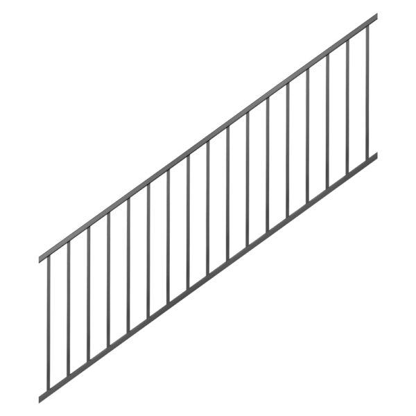 Westbury Tuscany 8' Aluminum Stair Rail - Black