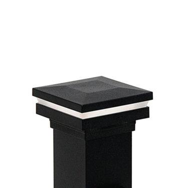 Westbury Railing LED Lighted Flat Post Cap - Black