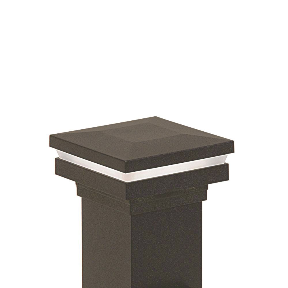 Westbury Railing LED Lighted Flat Post Cap - Bronze
